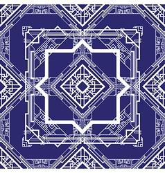 art deco blue vector image