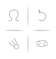 Astrology simple linear icon setsimple outline vector