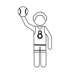 Athlete icon image vector
