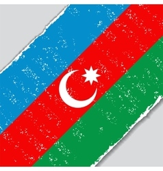 Azerbaijani grunge flag vector