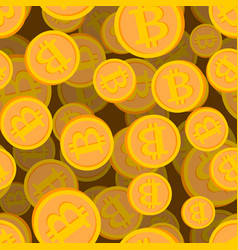 bitcoin seamless pattern cryptocurrency background vector image