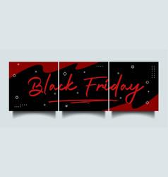 Black friday instagram social media sale banner vector
