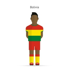 Bolivia football player Soccer uniform vector