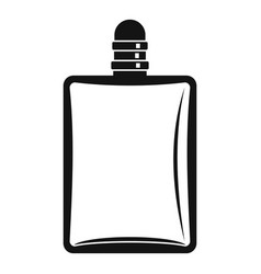 bottle of female perfume icon simple style vector image