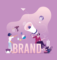 Brand awareness campaign - business branding vector