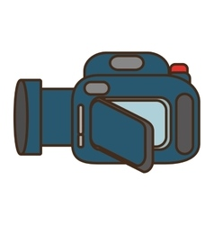 Cartoon camera video icon design vector