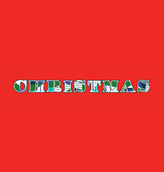 Christmas concept word art vector