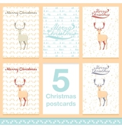 Christmas greeting card light and snowflakes vector image