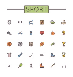 Colored Sport Line Icons vector