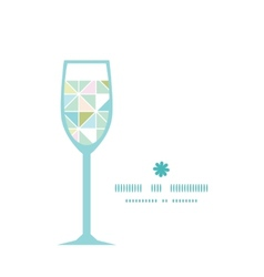 colorful pastel triangle texture wine glass vector image