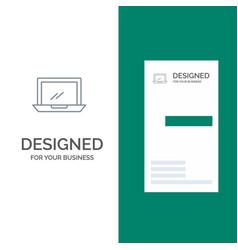 computer desktop device hardware pc grey logo vector image