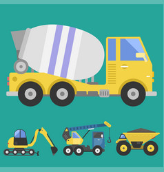 construction delivery truck transportation vehicle vector image