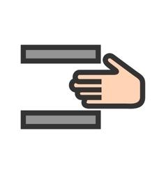 Danger of Hand Press vector
