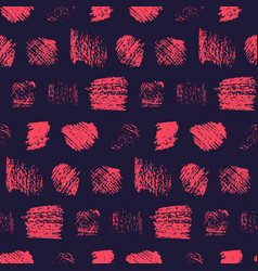 dark grunge red on black scratched squares pattern vector image
