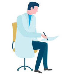 Diagnostic online doctor consultation vector
