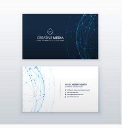 Digital blue business card design vector