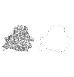 Dot contour map of belarus vector