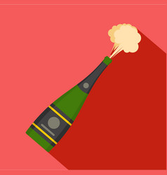 explosion champagne icon flat style vector image