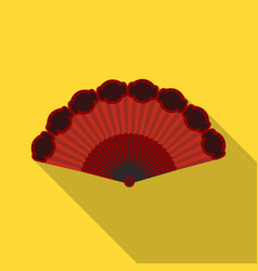 Flamenco fan icon in flate style isolated on white vector