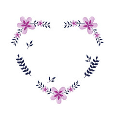 flowers shaped heart vector image