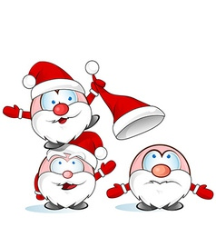 Funny santa claus group vector