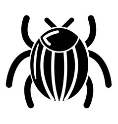 garden beetle bug icon simple style vector image