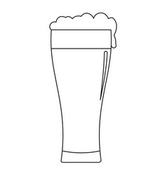 glass of beverage icon outline style vector image