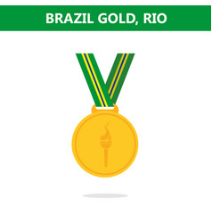gold medal brazil rio olympic games 2016 vector image