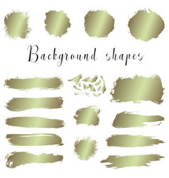 golden ink borders brush strokes stains banners vector image