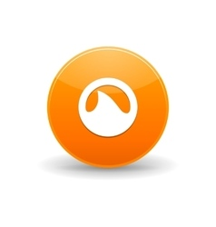 Grooveshark icon simple style vector image