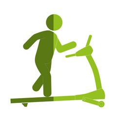Gym treadmill machine icon vector