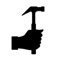 hammer in hand vector image