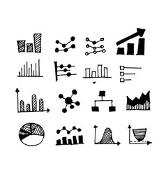 hand drawn doodle graph design vector image