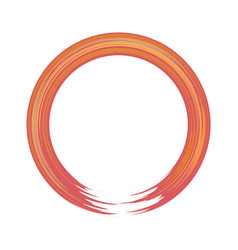 hand-painted acryllic circle or round border flat vector image