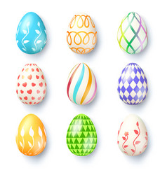 happy easter seasons holidays collection of vector image