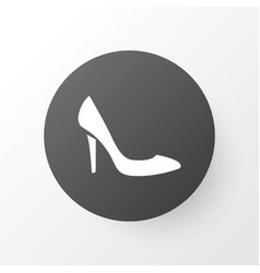 heeled shoes icon symbol premium quality isolated vector image