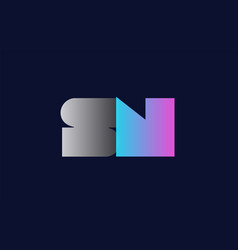 Initial alphabet letter sn s n logo company icon vector