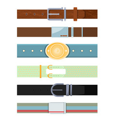 Leather belt various cartoon pictures of vector