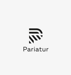 letter p line logo design creative vector image