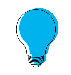 light bulb icon blue watercolor silhouette vector image