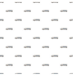 Modern high speed train pattern vector