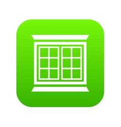 modern window frame icon green vector image