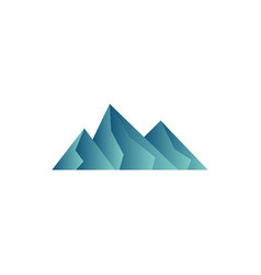 mountain icon design template vector image