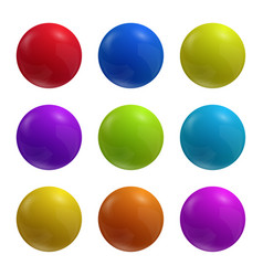 multicolored spheres vector image