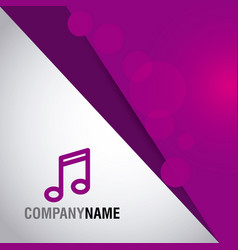 music company name corporate template business vector image