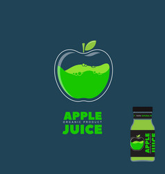 natural juice apple logo vector image