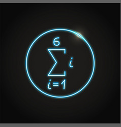 Neon math sequence icon in line style vector