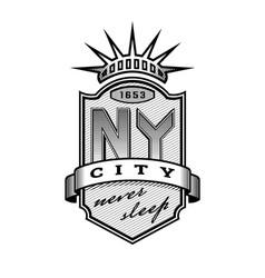 New york city emblem vintage style vector
