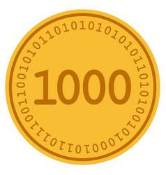 One thousand digital coin vector