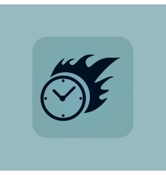 Pale blue burning time icon vector